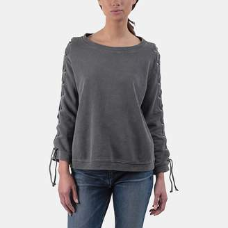 RtA Harper Lace-up Sweatshirt