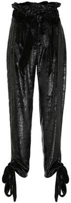 ATTICO Velvet paperbag pants