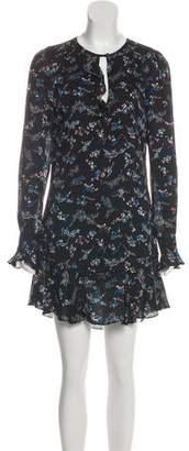 Veronica Beard Silk Floral Print Dress