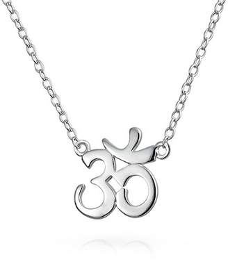 Bling Jewelry Calm Yoga Pendant Necklace