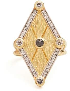 Kate Moss Ara Vartanian - X Diamond & Gold Ring - Womens - Gold
