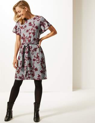 Marks and Spencer Floral Print Round Neck Tunic Dress