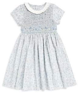 Luli and Me Little Girl's Floral-Print Smock Dress