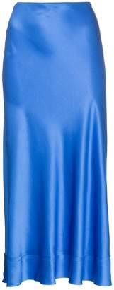 Lee Mathews Fitted silk midi skirt