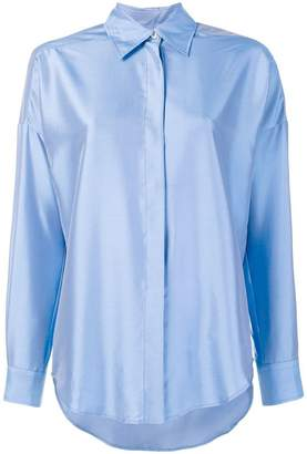 Alberto Biani silk plain shirt