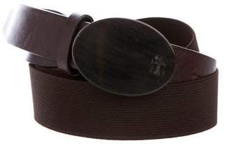 Brunello Cucinelli Brown elasticized belt