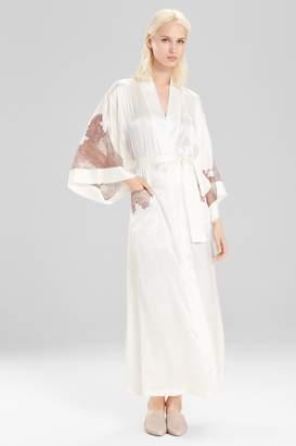 Natori Josie Lolita Long Robe With Lace