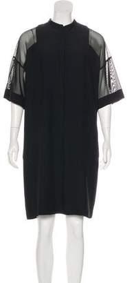 Akris Punto Short Sleeve Knee-Length Dress