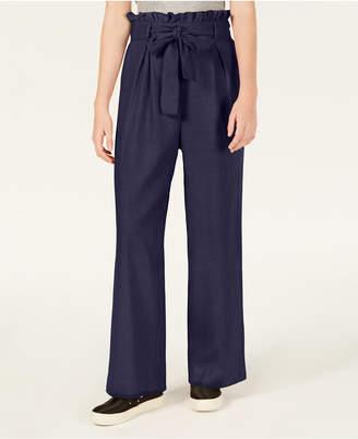 Material Girl Juniors' Tie-Waist Palazzo Pants