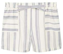 Violeta BY MANGO Striped linen-blend bermuda shorts
