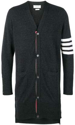 Thom Browne 4 bar-stripe knitted cardigan