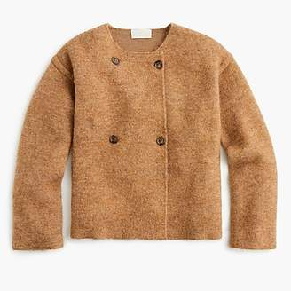 J.Crew Collection double-breasted collarless coat