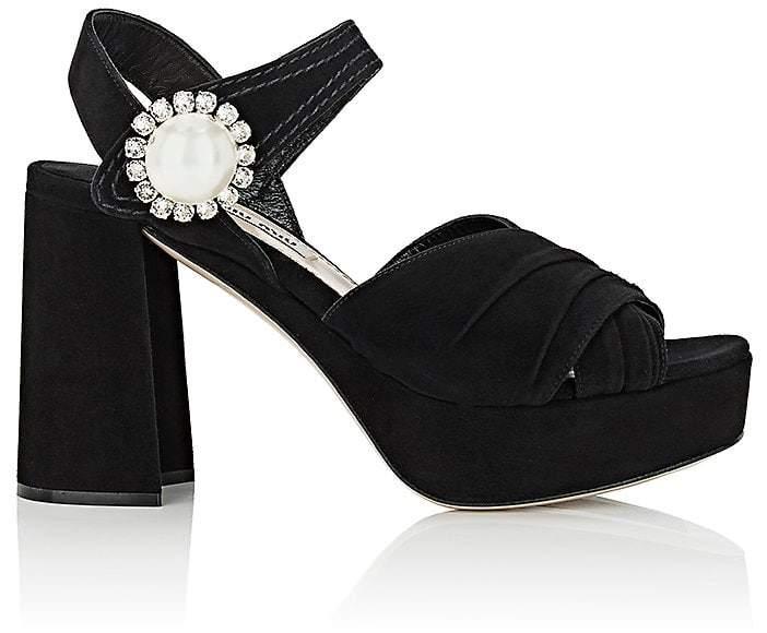 Miu Miu Women's Suede Platform Sandals