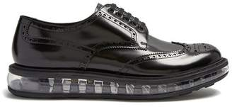 Prada Bubble Midsole Leather Brogues - Mens - Black