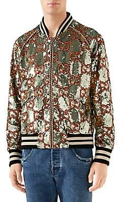 bf752d85e16 Gucci Men s Vanise Allover Bomber Jacket