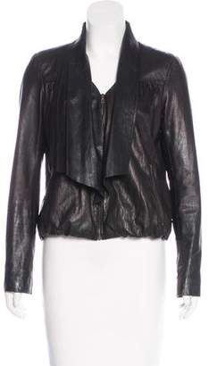 Diane von Furstenberg Leather Meringue Jacket