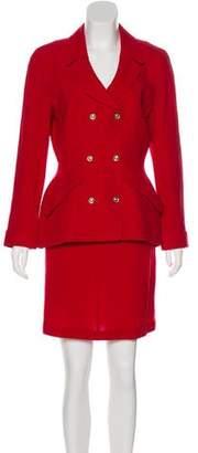 Thierry Mugler Wool Knee-Length Skirt Suit