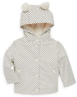 C&C California Baby Girl's Faux-Fur Lined Polka Dot Jacket