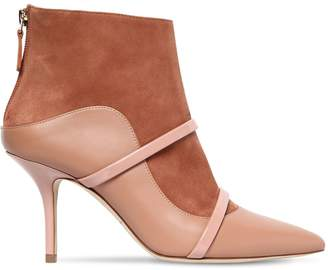 70mm Madison Suede & Leather Ankle Boots