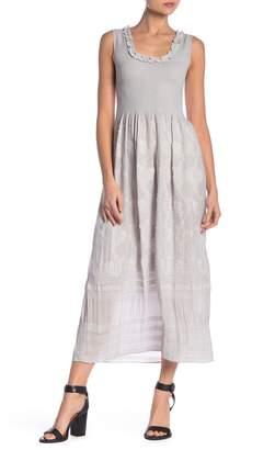 Max Studio Smocked Bodice Midi Dress