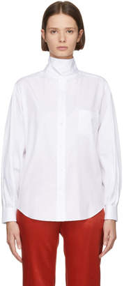 Toga White Stand Collar Shirt
