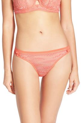 Huit Plein Les Yeux Lace Thong $43 thestylecure.com
