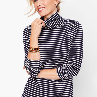 Talbots Long Sleeve Turtleneck- Bergen Stripe