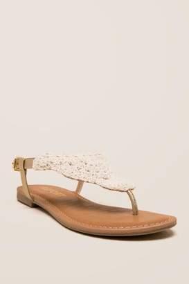 Report Ginelle Crochet T-Strap Sandal - Natural