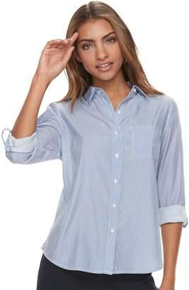 Apt. 9 Petite Roll-Tab Button-Down Shirt