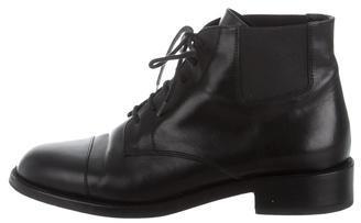 Saint LaurentSaint Laurent Leather Lace-Up Ankle Boots