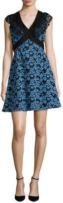 Anna Sui Silk Lace Flared Dress
