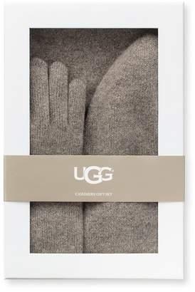 UGG Women's Three-Piece Cashmere Beanie, Scarf and Gloves Gift Set