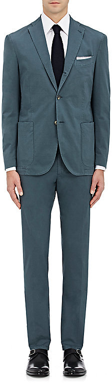 BoglioliBoglioli Men's Three-Button Micro-Twill Suit