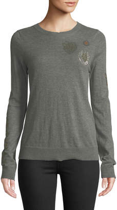 Zadig & Voltaire Embellished Cashmere Pullover Sweater