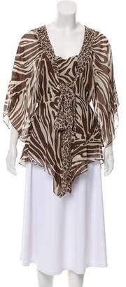 MICHAEL Michael Kors Silk Printed Blouse