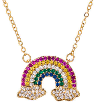 Fly London Eye Candy Los Angeles Eye Candy La Me Over The Rainbow Cz Crystal Pendant Necklace