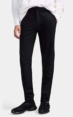 424 - Born X Raised Men's Wool-Blend Plain-Weave Slim Trousers - Black