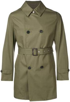 MACKINTOSH Khaki Cotton Storm System Short Trench Coat