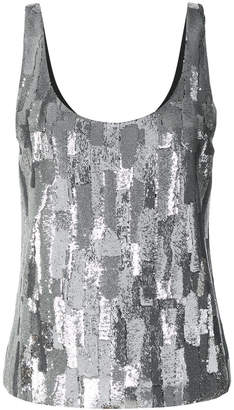Saint Laurent metallic embellished tank top