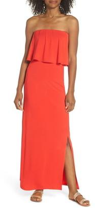Fraiche by J Strapless Popover Maxi Dress