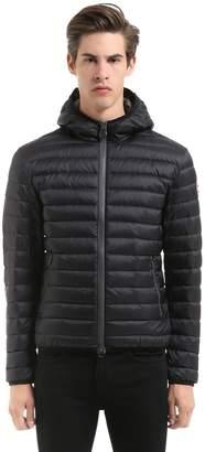 Nylon Hooded Down Jacket