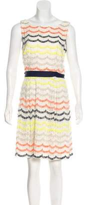 Trina Turk Fringe-Accented Sleeveless Dress