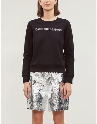 Calvin Klein Logo-print cotton-jersey sweatshirt