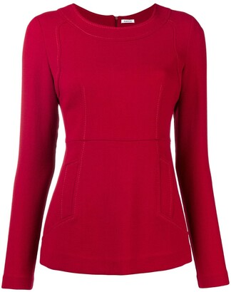 P.A.R.O.S.H. fitted long sleeve blouse