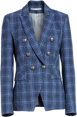Veronica Beard Miller Wool Blend Plaid Dickey Jacket