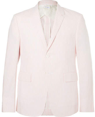 Thom Browne Pink Striped Cotton-seersucker Suit Jacket