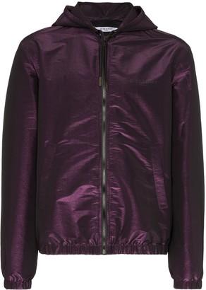 Givenchy logo print hooded jacket