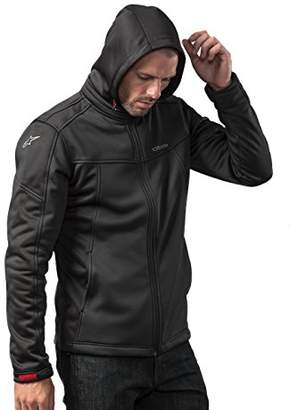 Alpinestars Men's Modern Fit Stretch Removable Hood Bunjie Adjusters Tech Bonded Micro Fleece