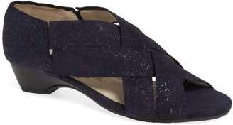 Amalfi by Rangoni Desio Embossed Cross Strap Sandal