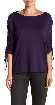 14th & Union Gathered Sleeve Boatneck Tee (Petite Size Available)